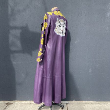 Call and Response purple hand painted coat