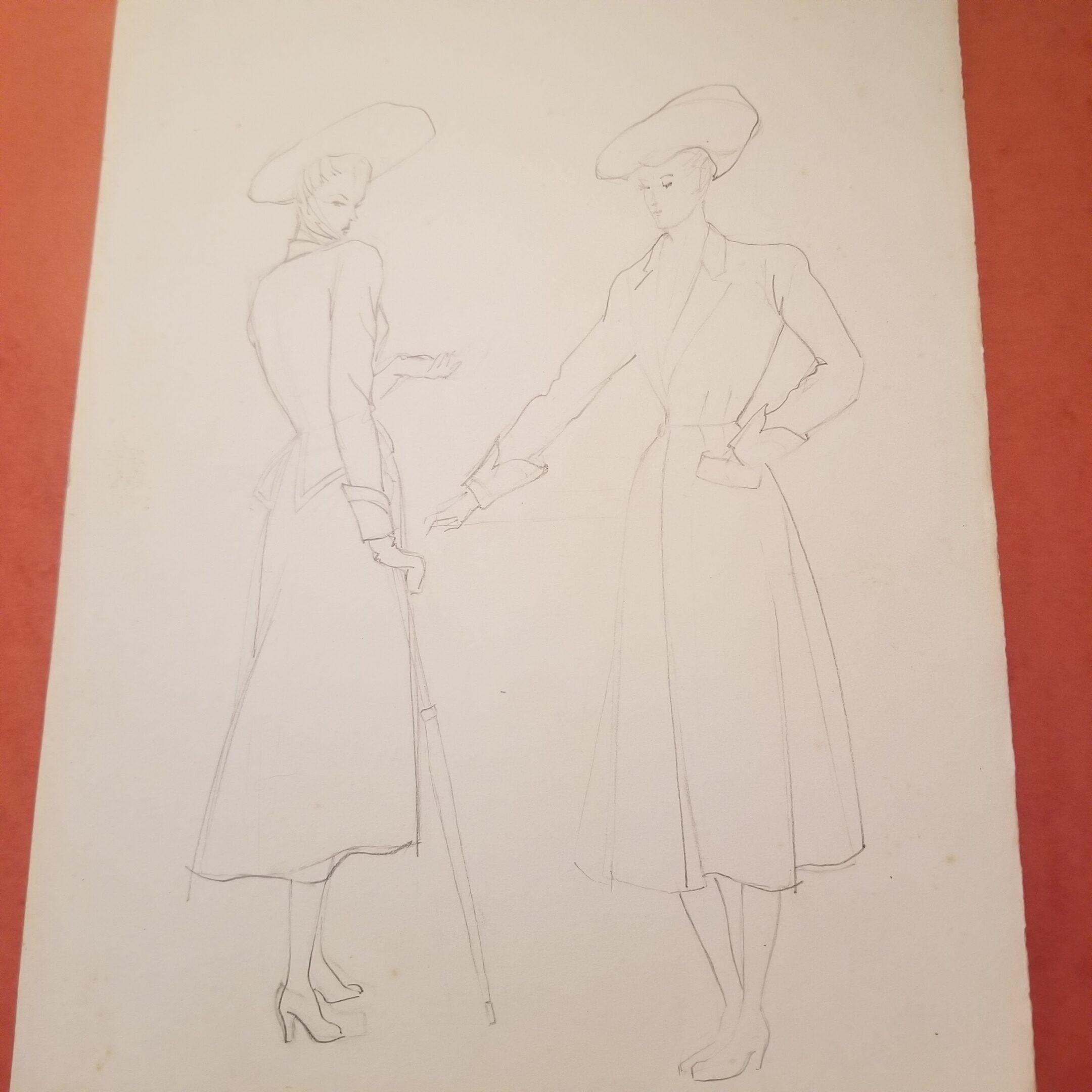1940s fashion illustration