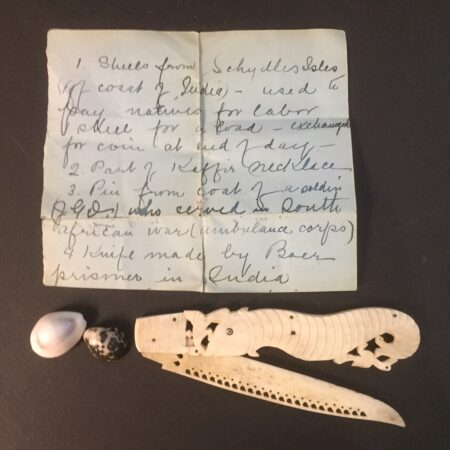 paper knife with letter