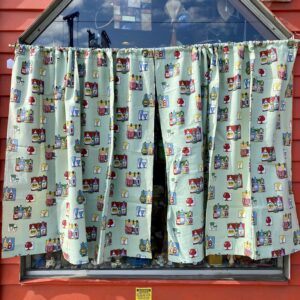 Bar patterned curtains