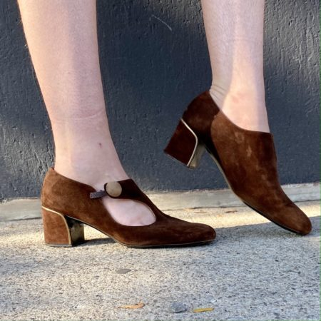 1960s Mod round toed Suede Shoes